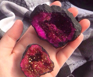 pink, rock, and crystal image
