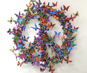 peace and butterfly image