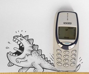 art, draw, and nokia image