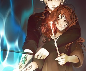 harry potter, draco, and dramione image
