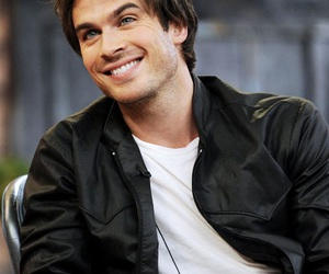 ian somerhalder, smile, and damon salvatore image