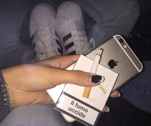 adidas, cigarette, and iphone6 image