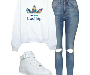 casual, Polyvore, and white image