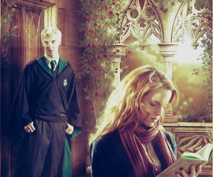 harry potter, hermione, and draco image