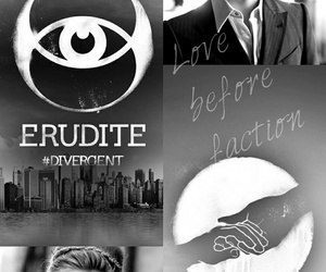divergent, veronica roth, and caleb prior image