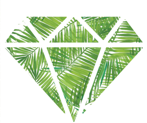 diamond, green, and palms image