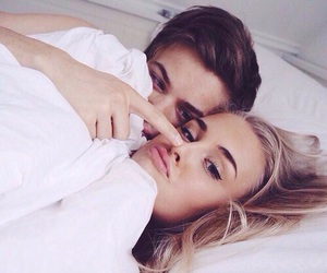 adorable, couple, and cuddling image