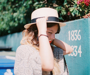 girl, vintage, and hat image