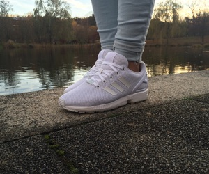 adidas, in love, and all white image