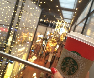 christmas, shopping, and starbucks image