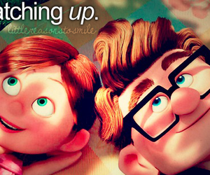 love, up, and boy image