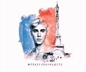 justin bieber and pray for paris image
