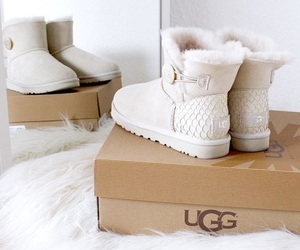 ugg, shoes, and white image