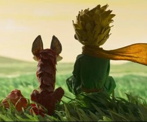 the little prince, fox, and book image