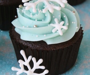 cupcake, winter, and snowflake image