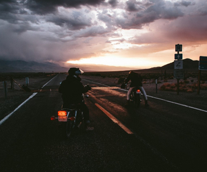 beauty, road, and sky image