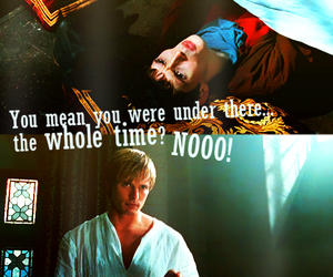 arthur, funny, and merlin image