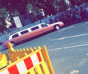 limousine, pink, and pink car image