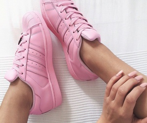chaussure, pink, and rose image
