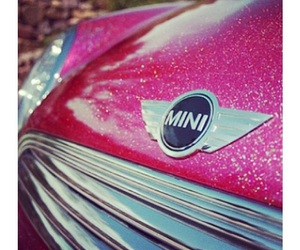 mini cooper and pink image