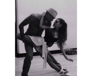 ariana grande, chris brown, and dance image