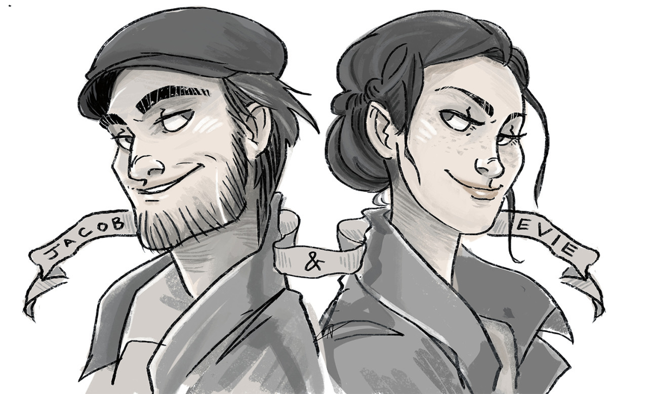 Wandering Hobbit Haven T Even Played This Game Yet But These Two Are All Over My Newsfeed And I Love Them Already Jacob And Evie Frye Quick Sketch Before Work