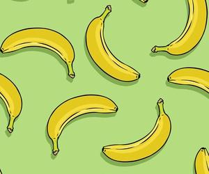 banana, wallpaper, and yellow image