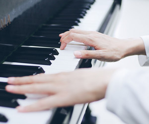 art, hands, and music image