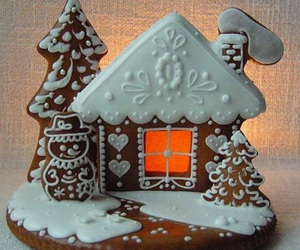 christmas, gingerbread, and gingerbread house image