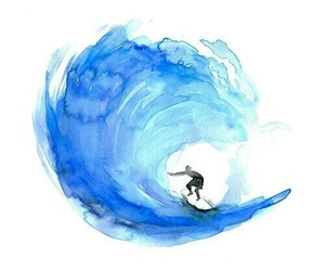 blue, surf, and art image