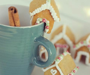 christmas, cold, and gingerbread house image