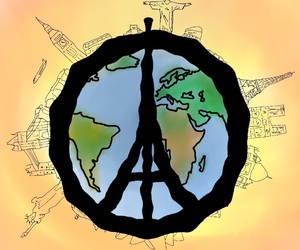 art, paris, and pray for the world image