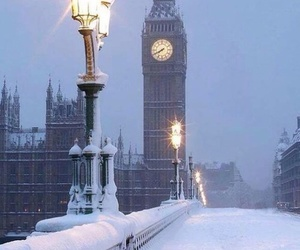 london, snow, and winter image