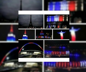 city, france, and light image