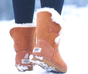 winter, boots, and christmas image