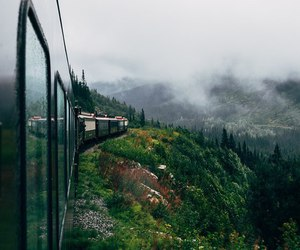 train, nature, and travel image