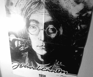 poster, black+and+white+, and john+lennon+ image