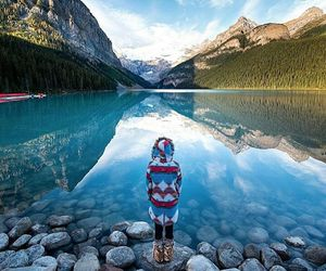 lake, mountains, and travel image