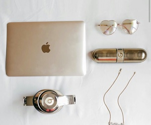 beats, glasses, and gold image