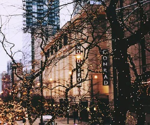 light, city, and christmas image