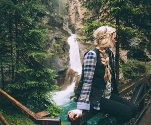 fashion, hair, and nature image