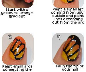 butterfly, nail, and tutorial image