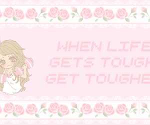 be strong, pink, and tumblr image