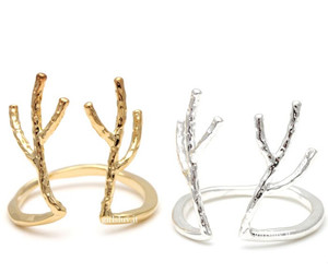 deer ring, unique ring, and stretch ring image