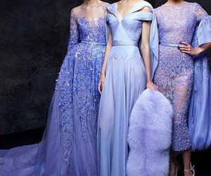 dress, fur, and purple image