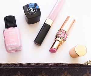 chanel, makeup, and love image