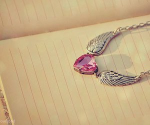 heart, pink, and necklace image