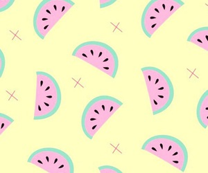 wallpaper, watermelon, and iphone image