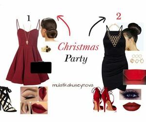 christmas, Christmas party, and fashion image