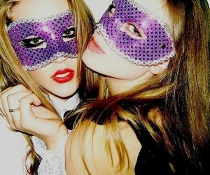 girl, mask, and alicia kuczman image